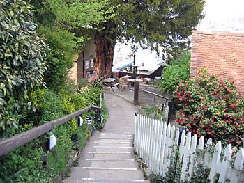 The path leading to the Jolly Sailor pub