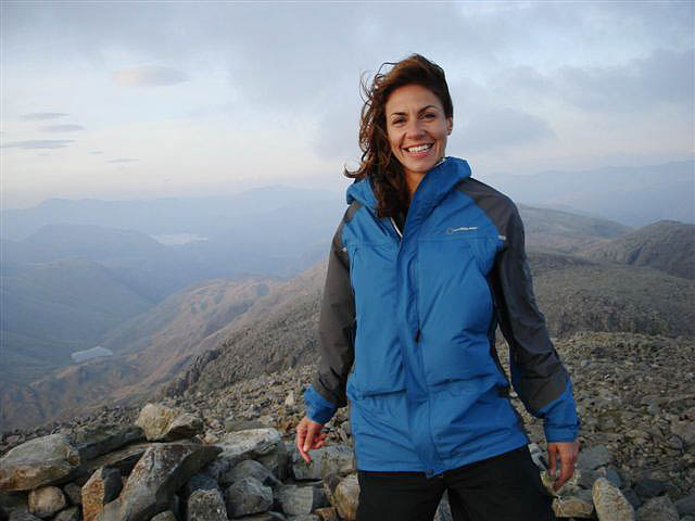 Julia Bradbury on Scafell Pike