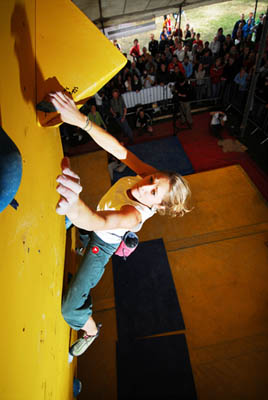 Katie Whittaker will defend her 2007 bouldering title