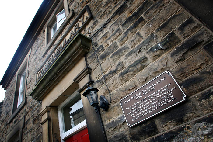 New Mills police station, where Benny and the other trespassesers were held after their arrest