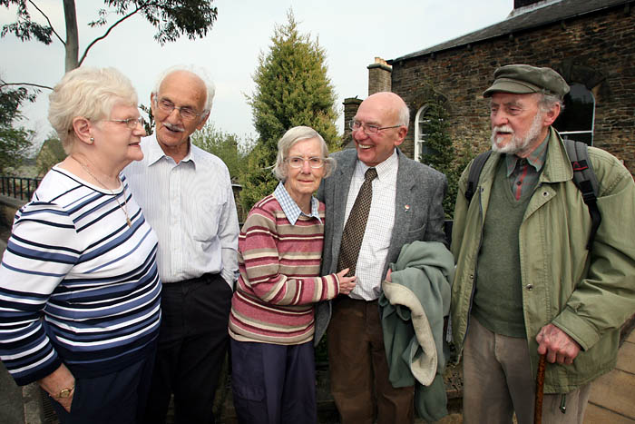 Centre: Irene and John Bunting with friends Eric and Pauline Gibbons, left, and campaigner Terry Perkins
