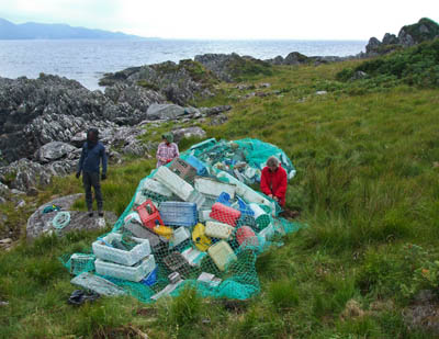 Some of the rubbish collected during the Knoydart clean-up