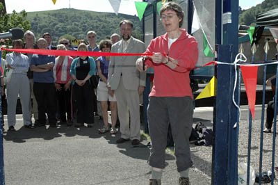 Kate Ashbrook opens the Church Stretton celebrations
