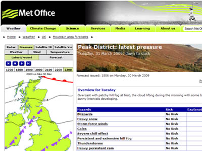 Grough met office launches peak district mountain forecasts - Met office mountain forecast ...