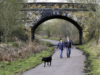 Walkers on the existing Monsal Trail
