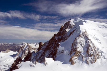 Mont Blanc, scene of the double death fall. Photo: Alain Wibert