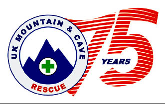 UK Mountain and Cave Rescue 75 years logo