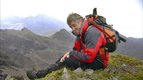 Presenter Griff Rhys-Jones in Mountain mode