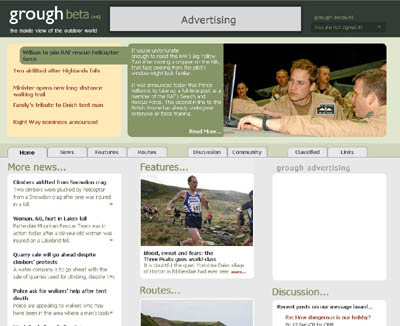 The new grough website