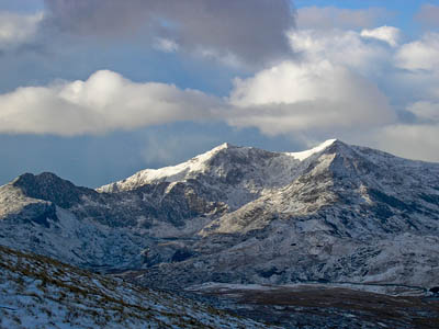 Snowdon: the climber was rescued after camping near the Watkin Path. Photo: Martin V Morris CC-BY-2.0