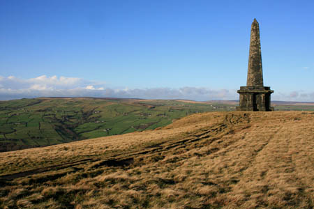The woman in a mini skirt was last seen heading for Stoodley Pike