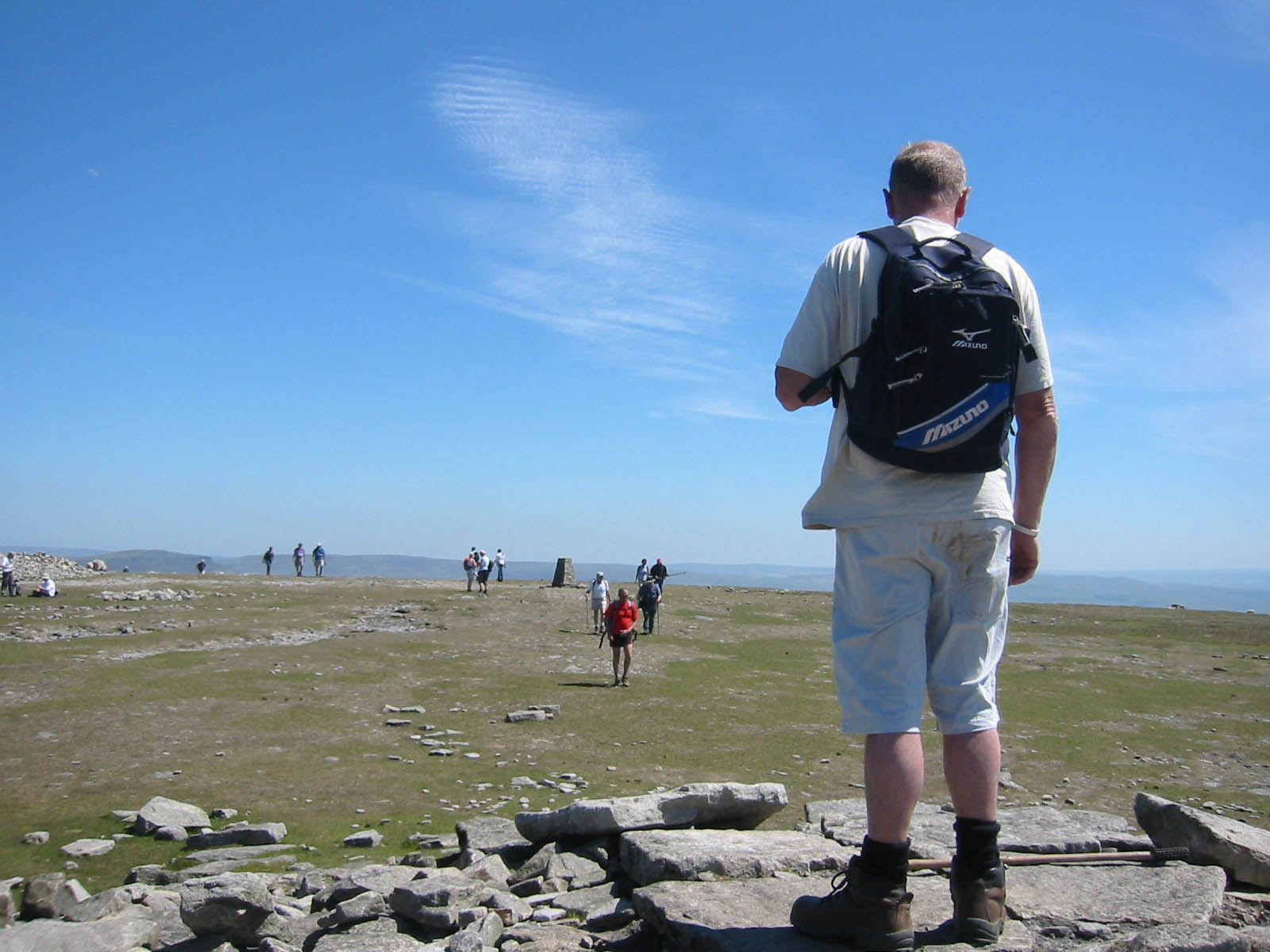 A gentle walk may not be enough: climbing to Ingleborough's summit plateau will get the lungs going