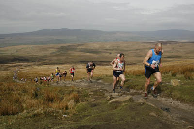 Runners make the climb to Pen-y-ghent