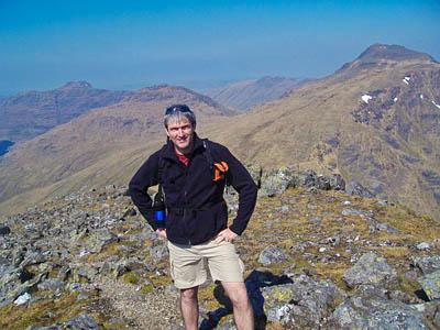 Michael Tunney, who survived a near-fatal fall on Beinn Achaladair