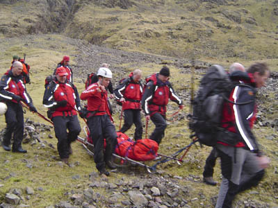 Wasdale MRT in action on a previous incident