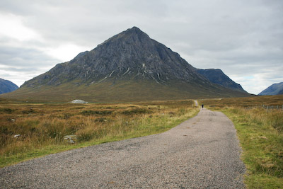 The West Highland Way approaches Buachaille Etive Mòr in Glencoe