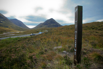 The West Highland Way in Glencoe