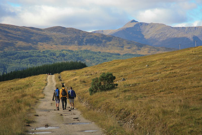 The old military road in Glen Orchy