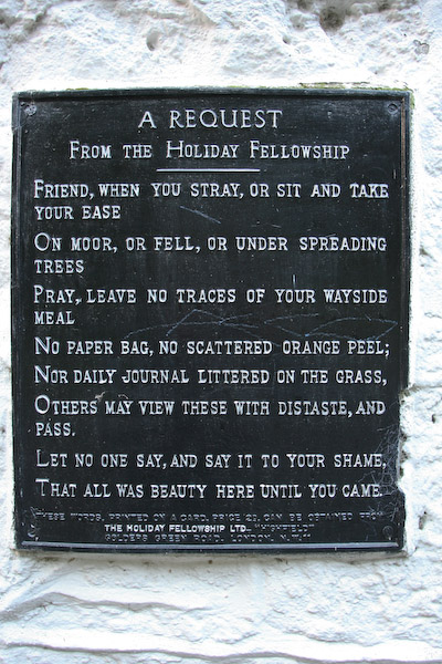 The Holiday Fellowship sign on wall of the Clansman bar, Rowardennan