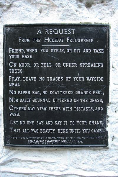 The Holiday Fellowship sign on wall of the Clansman bar, Rowardennan