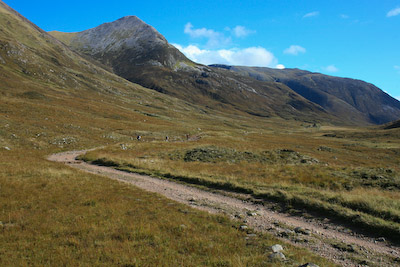 The Lairig Mòr, between Kinlochleven and Glen Nevis