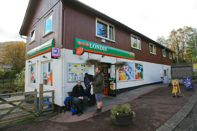 The Crianlarich village store: well stocked, but short on good cheer