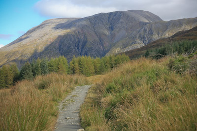 The West Highland Way, heading towards Ben Nevis
