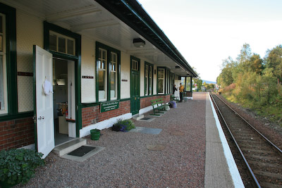 Bridge of Orchy station, home for the night