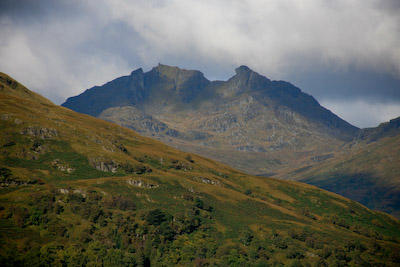 The route along the eastern shore of Loch Lomond affords views of The Cobbler