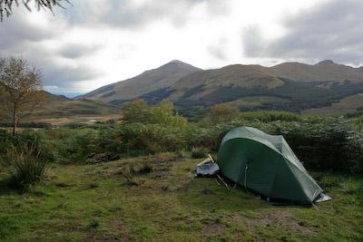 Wild camping in Glen Fillan