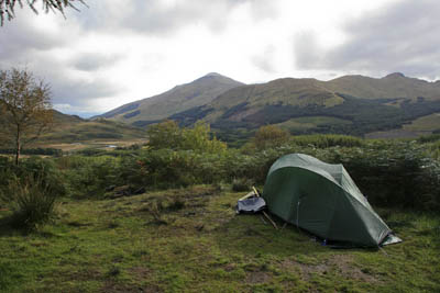 Wild camping: the right is enshrined in Scotland's access law