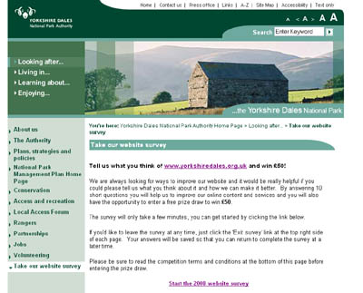 Yorkshire Dales National Park Authority website