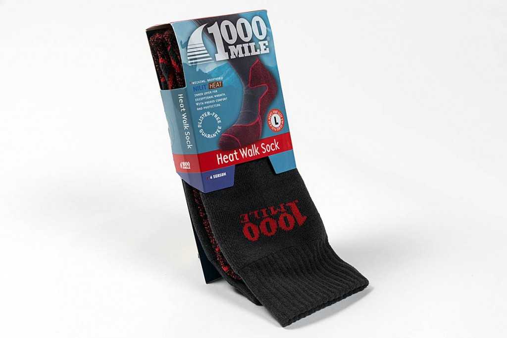 1000 Mile Heat Walk Sock. Photo: Bob Smith/grough