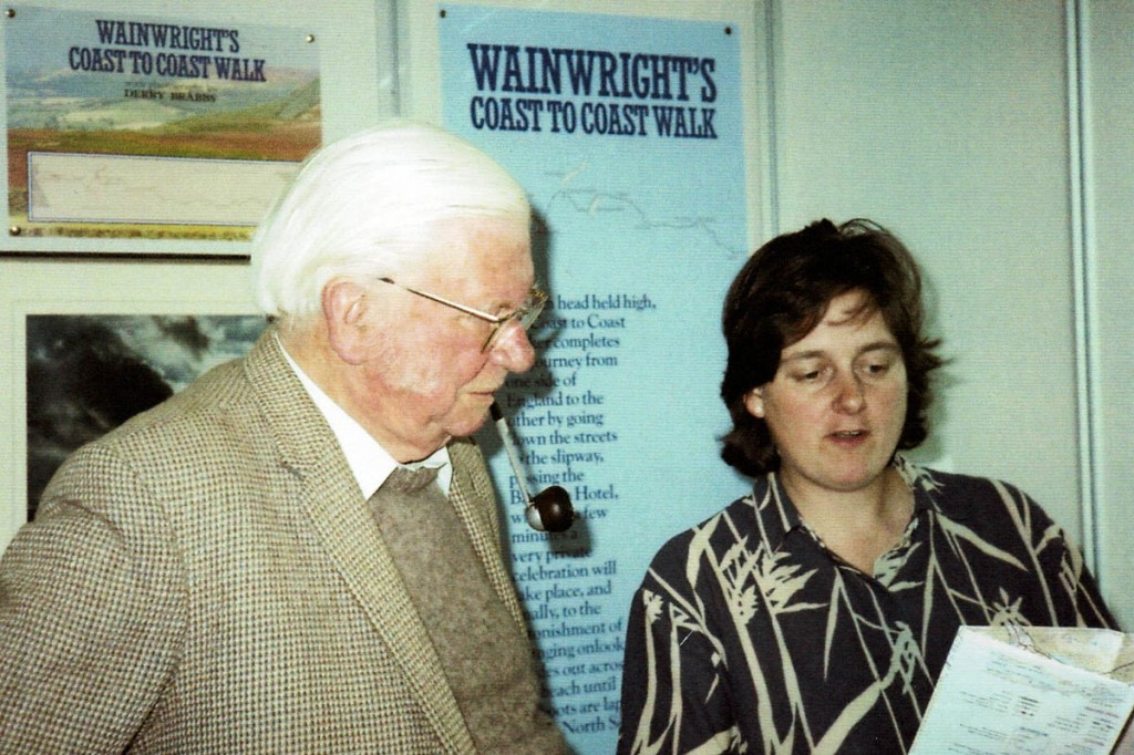 Jenny Dereham with Alfred Wainwright