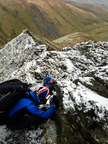 Conditions on Sharp Edge during the rescue. Photo supplied by reader Stephen Little