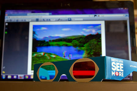 Virtual visitors will need special free glasses to make the most of the Go Lakes Travel images