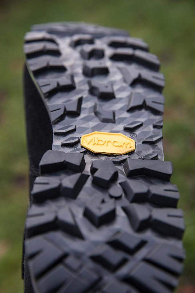 the AKU boot's outsole. Photo: Bob Smith/grough
