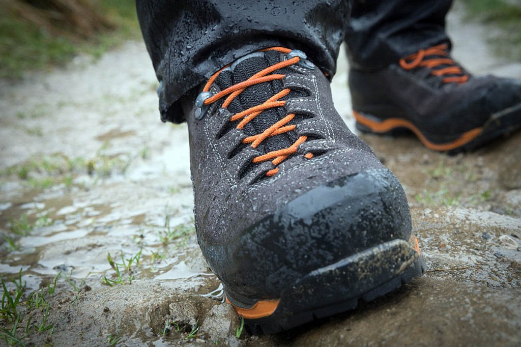 The AKU Superalp GTX boots are tested under typical British conditions. Photo: Bob Smith/grough