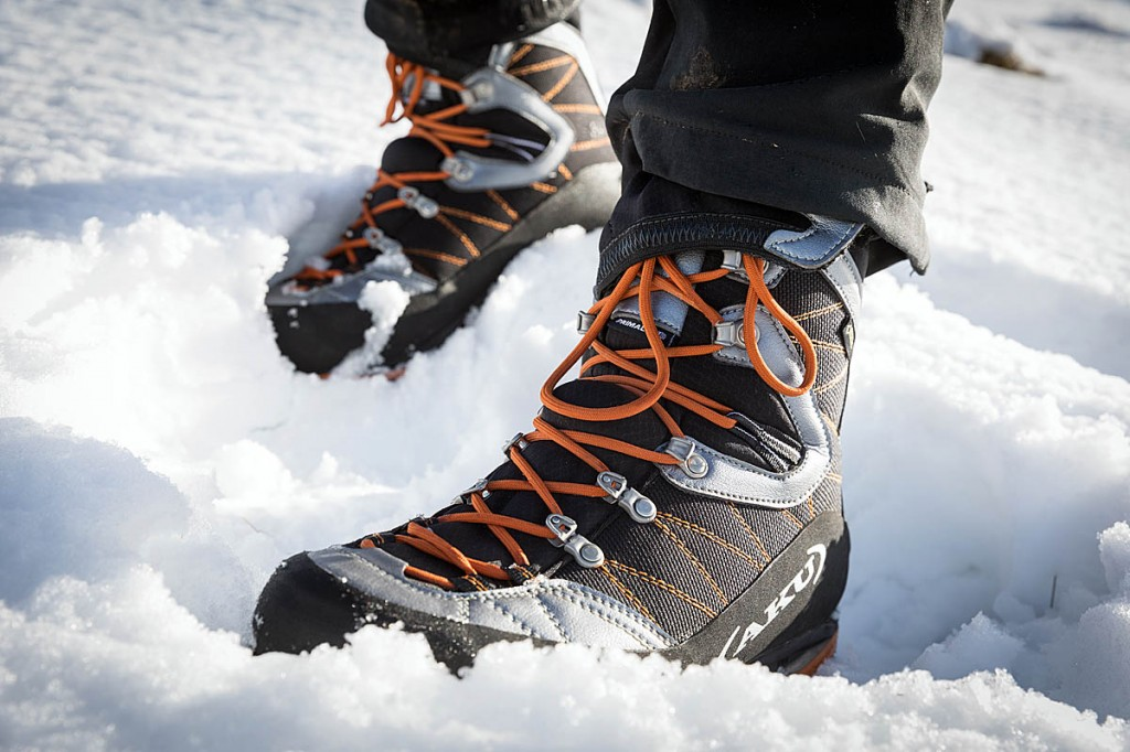 The boots' insulation worked well in snow. Photo: Bob Smith/grough