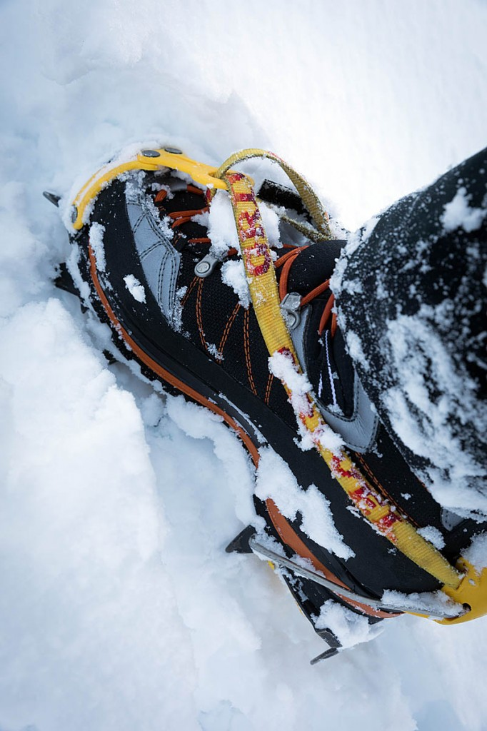 The boots were comfortable while using crampons. Photo: Bob Smith/grough