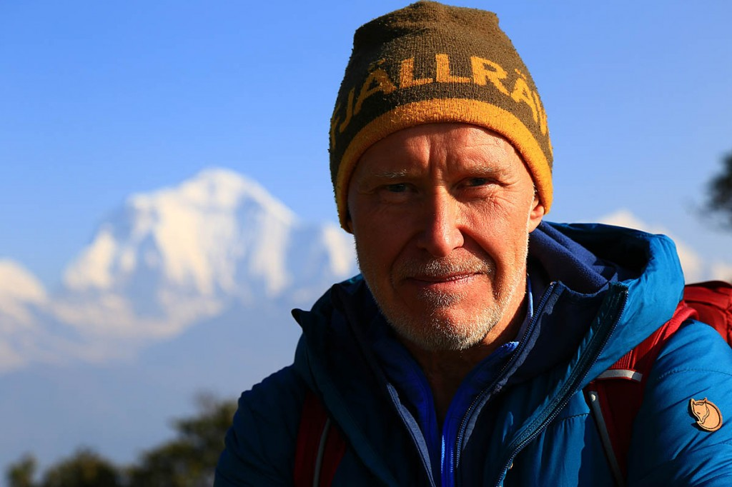 Alan Hinkes in the Himalaya. Photo: Terry Abraham