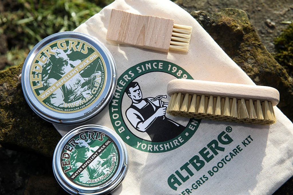 Altberg Hiking Bootcare Kit. Photo: Bob Smith/grough