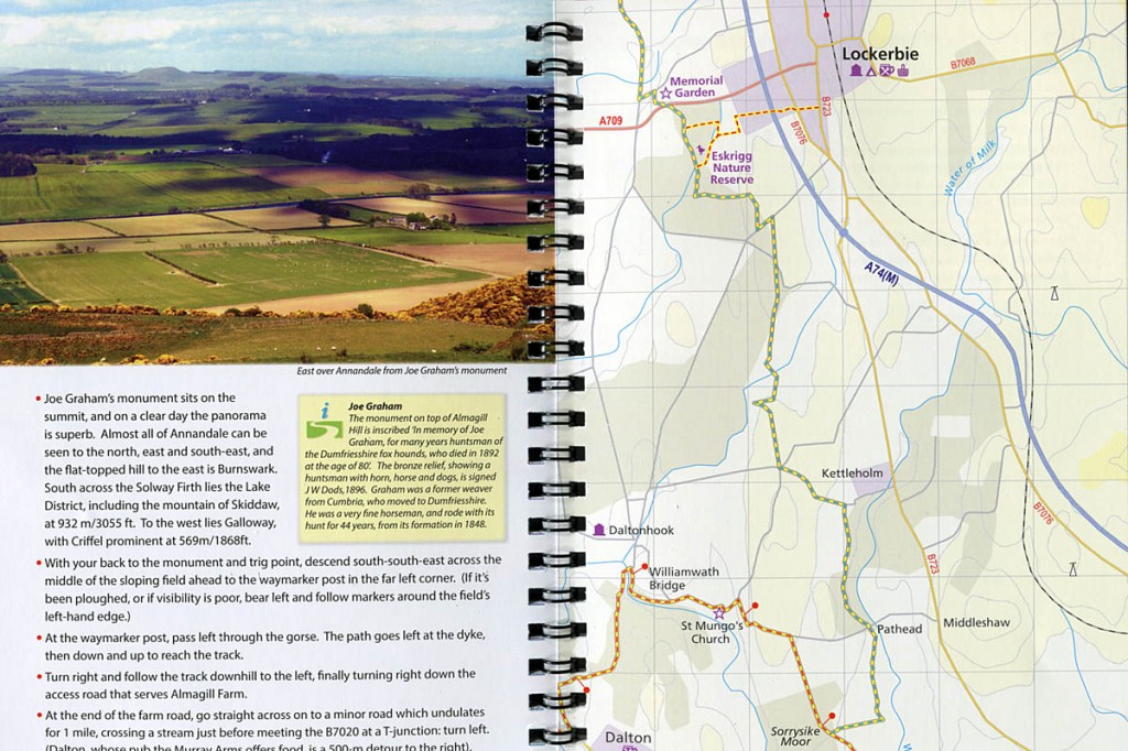 The route descriptions are accompanied by photographs and clear mapping