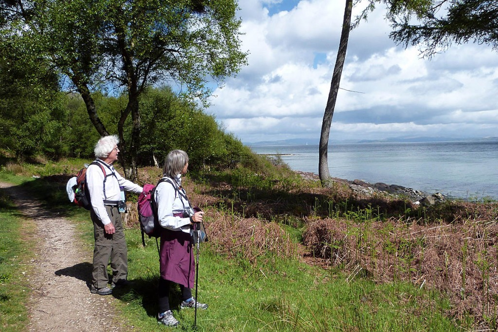 The trail follows the coast of the Isle of Arran