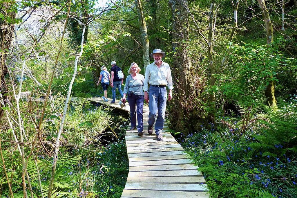 Walkers on the Arran Coastal Trail
