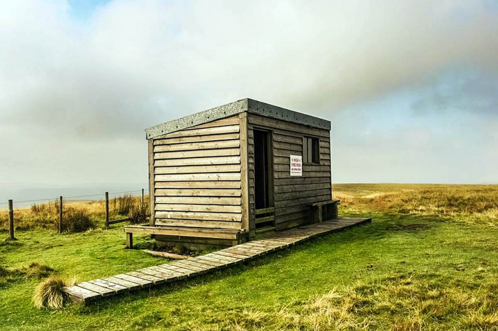 The Auchope mountain refuge hut. Photo: Northumberland NPMRT