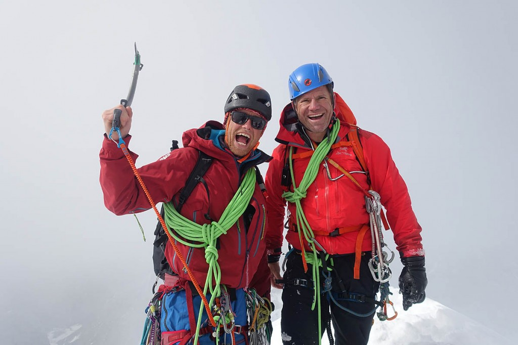 Climber Leo Houlding joins Steve Backshall in the adventure. Photo: BBC/Screendog