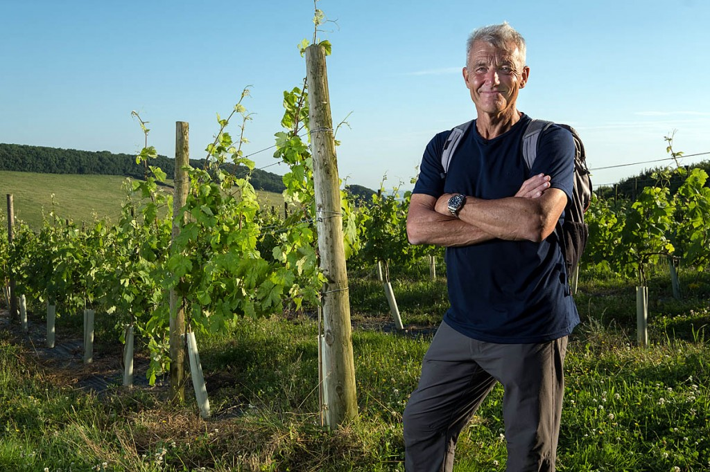 Paul Rose calls in at a Yorkshire vineyard on his journey. Photo: BBC