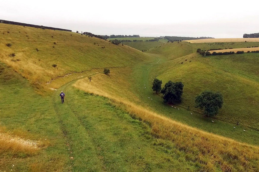 The Yorkshire Wolds Way passes through chalk hills. Photo: BBC