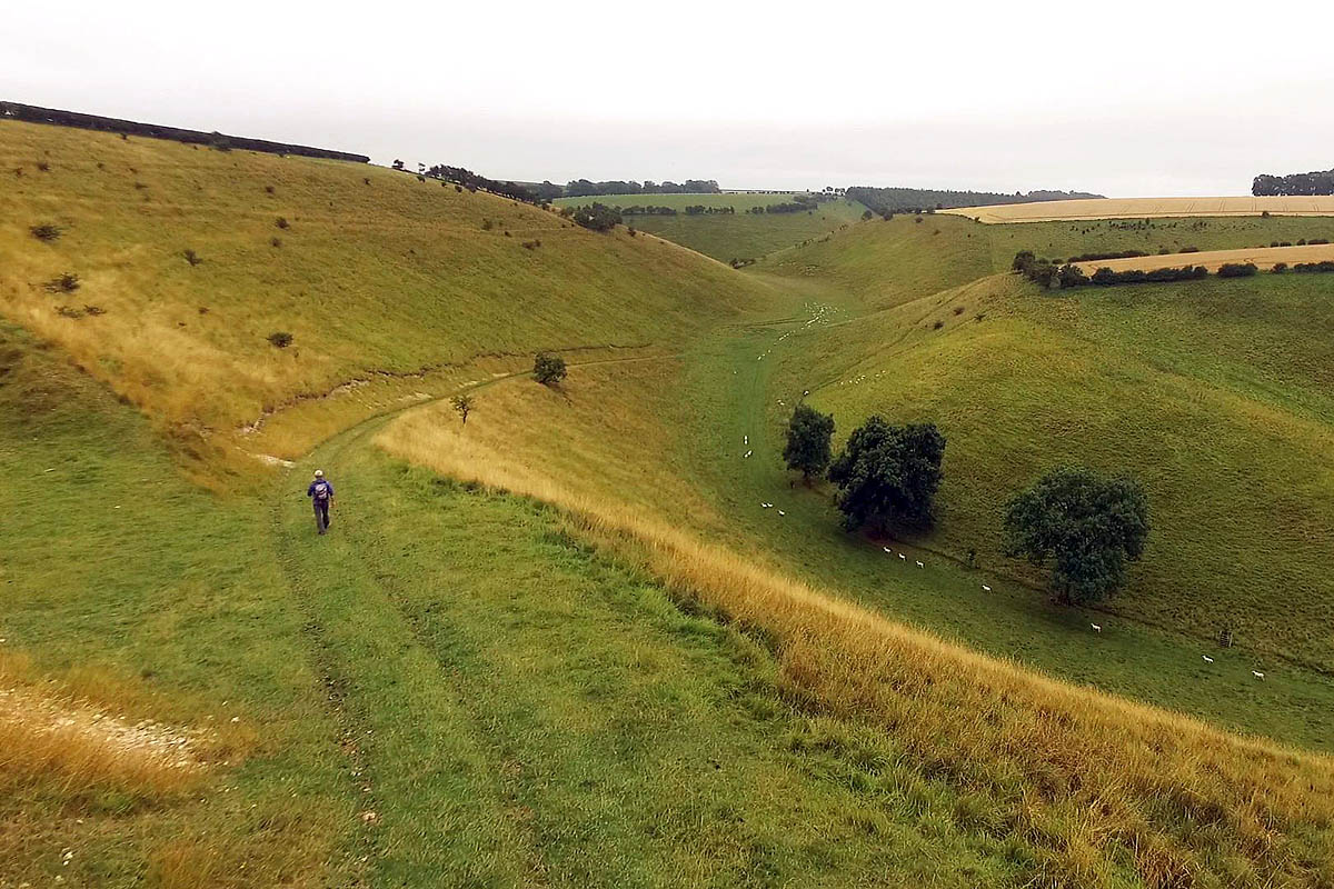 The Yorkshire Wolds Way Passes Through Chalk Hills Photo: Bbc '� Science  Photo Library Surface Area